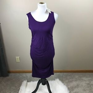 Kimi And Kai Maternity Purple Dress